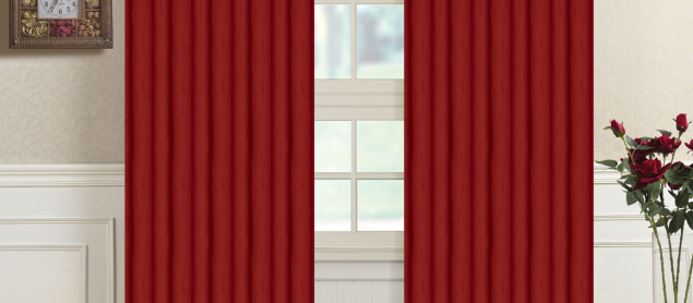 Beautiful Red And Grey Curtains Uk