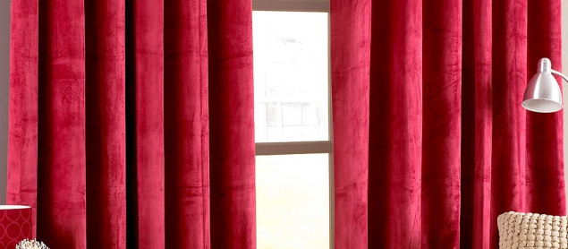 Stunning Red Cotton Grommet Modern Living Room Curtains Long Red Curtains